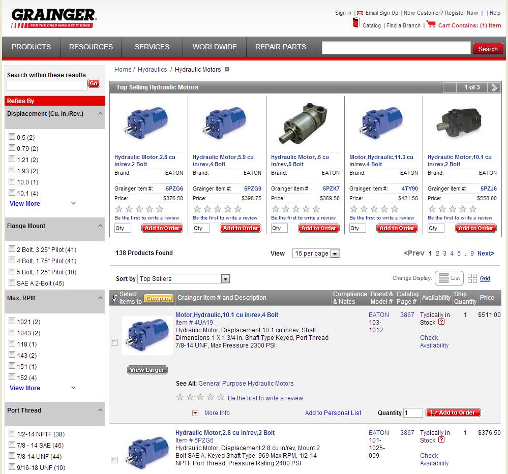 b2b ecommerce examples Grainger * eCommerceandB2B.com